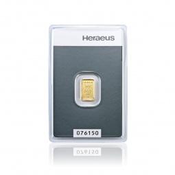 1g Goldbarren Heraeus