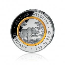 1kg Silber Somalia Elefant...