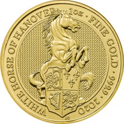 1 OZ Gold The White Horse...