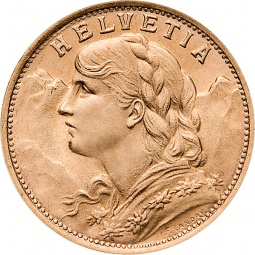 Gold Vreneli 20 Franken