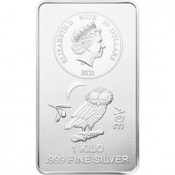 1 Kg Münzbarren Silber Eule...